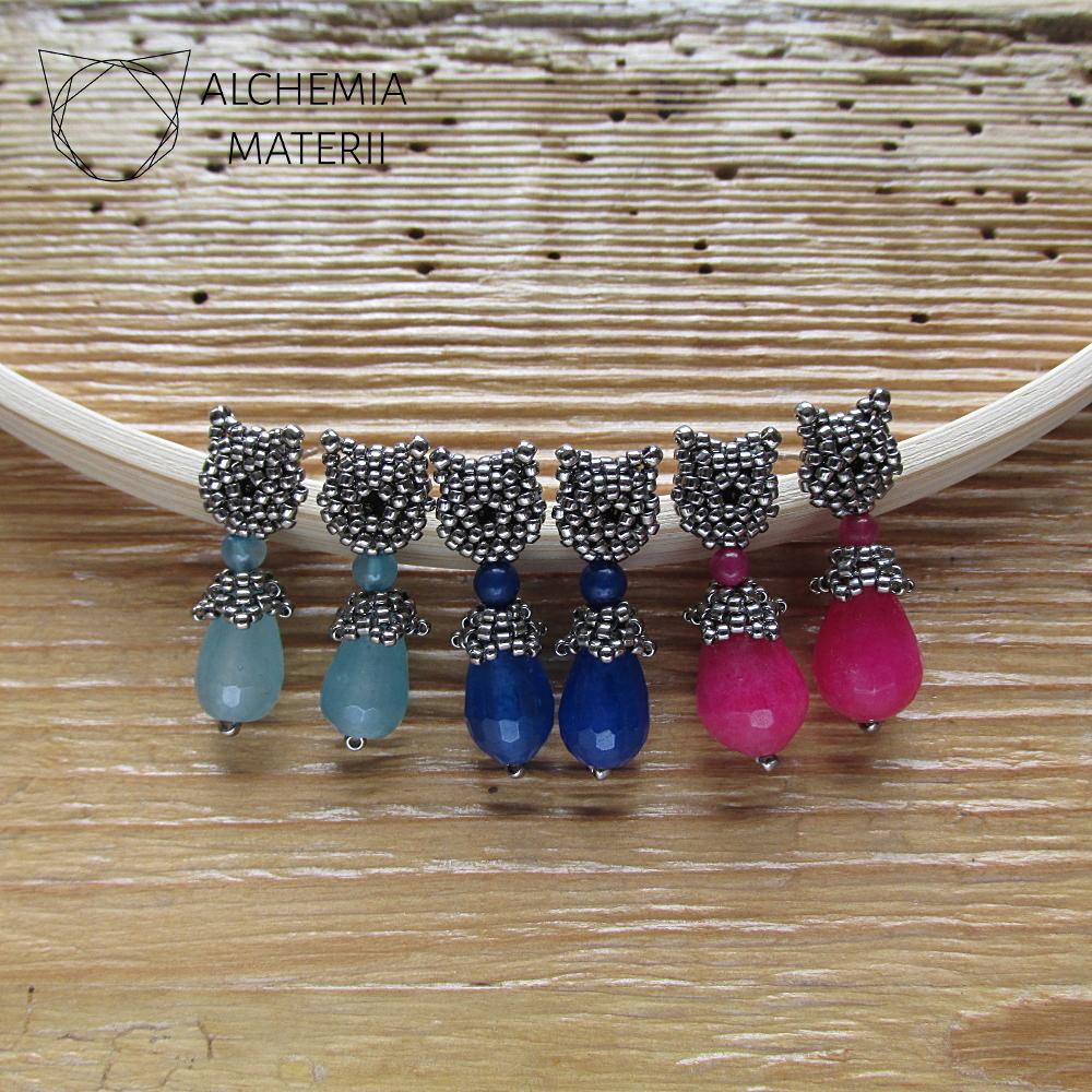 Earrings - Two Cats .