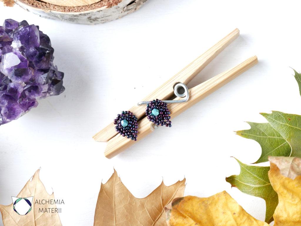 Kolczyki w kształcie liści .